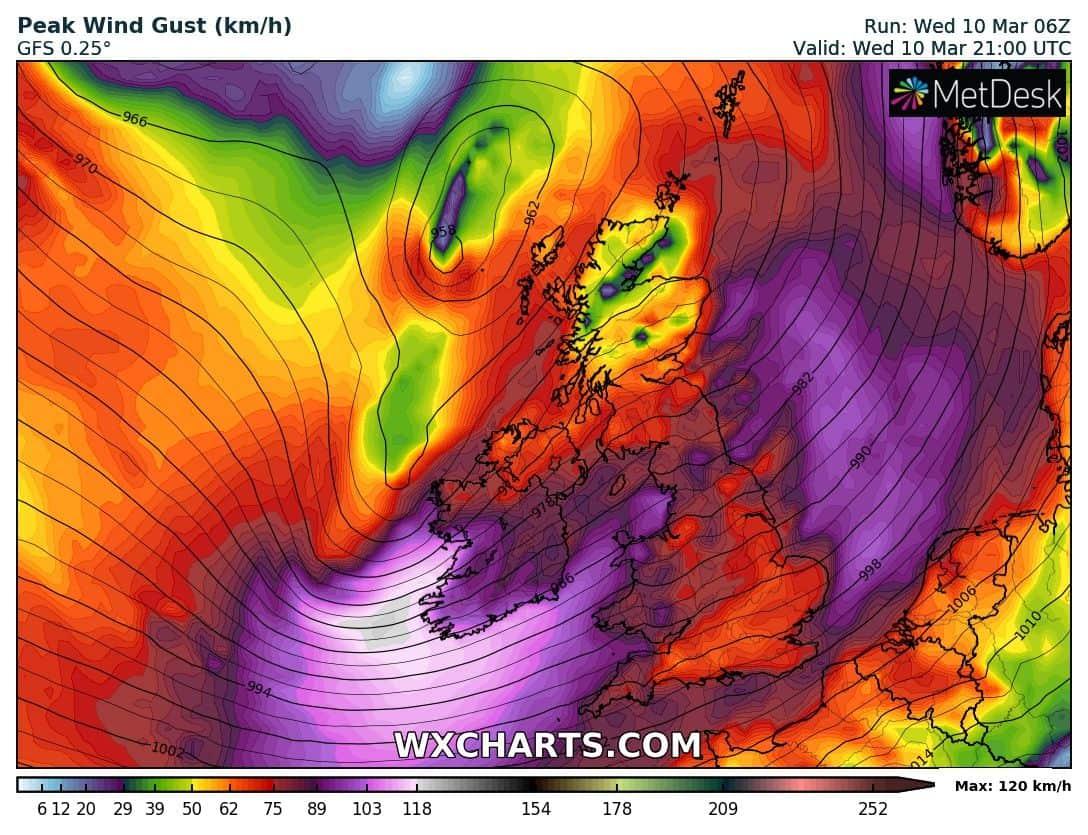 150km/h-s orkánnal viharciklonok csapnak le Ny-Európára! 2