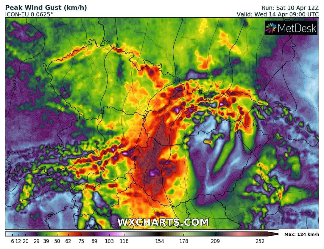 Napokig tartó viharos szél, akár 100km/h, havazás, zivatar! 6