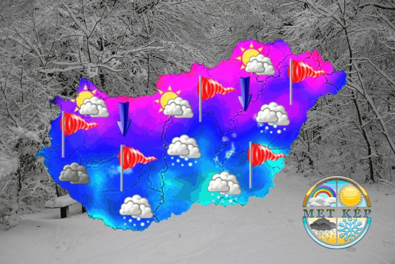 Visszatámad a tél, Benedek zsákban hozza a szibériai eredetű hideget, zivatar, majd havazás is lehet! 10
