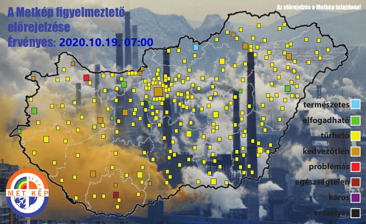 Légszennyezettségi térkép.
