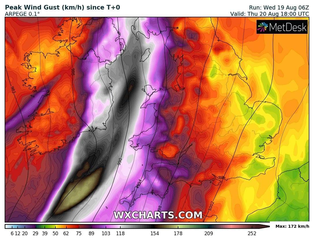 Kyle hurrikán erősségű szélviharral csap le Írországra éjszaka! 6