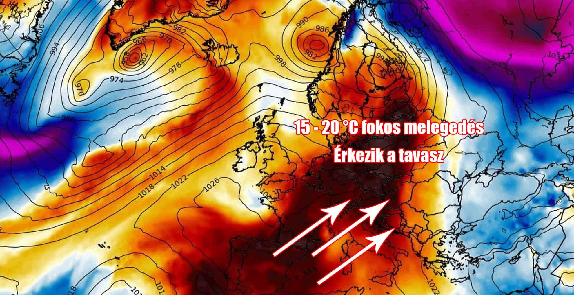 Hosszútávú előrejelzés: 15-20 fokos melegedés jövő hét végére! 7