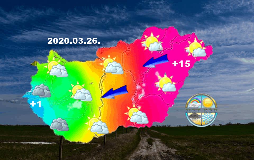Kelet felől már jön a melegedés, a hétvégén 20 fok körül tetőzik! 8