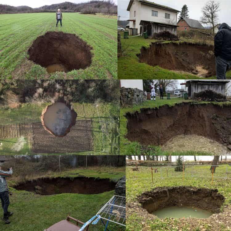 Hatalmas víznyelők alakultak ki a földrengések után Horvátországban!