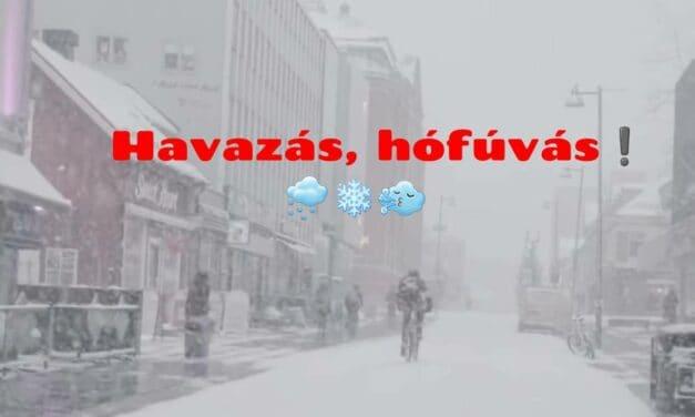 Havazás, viharos szél, hófúvás a következő napokban!
