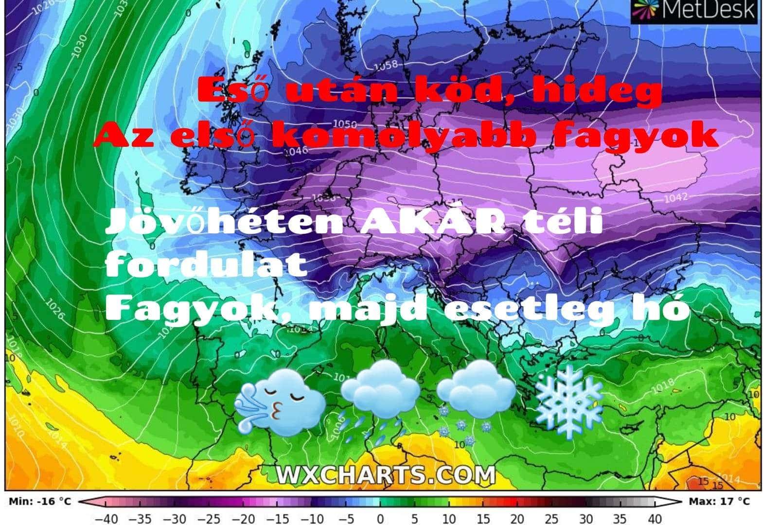 Hosszútávú kilátások: eső után köd és fagyos reggelek, jövőhéten AKÁR téli fordulat, majd esetleg hó! (Videós időjárás előrejelzés) 7