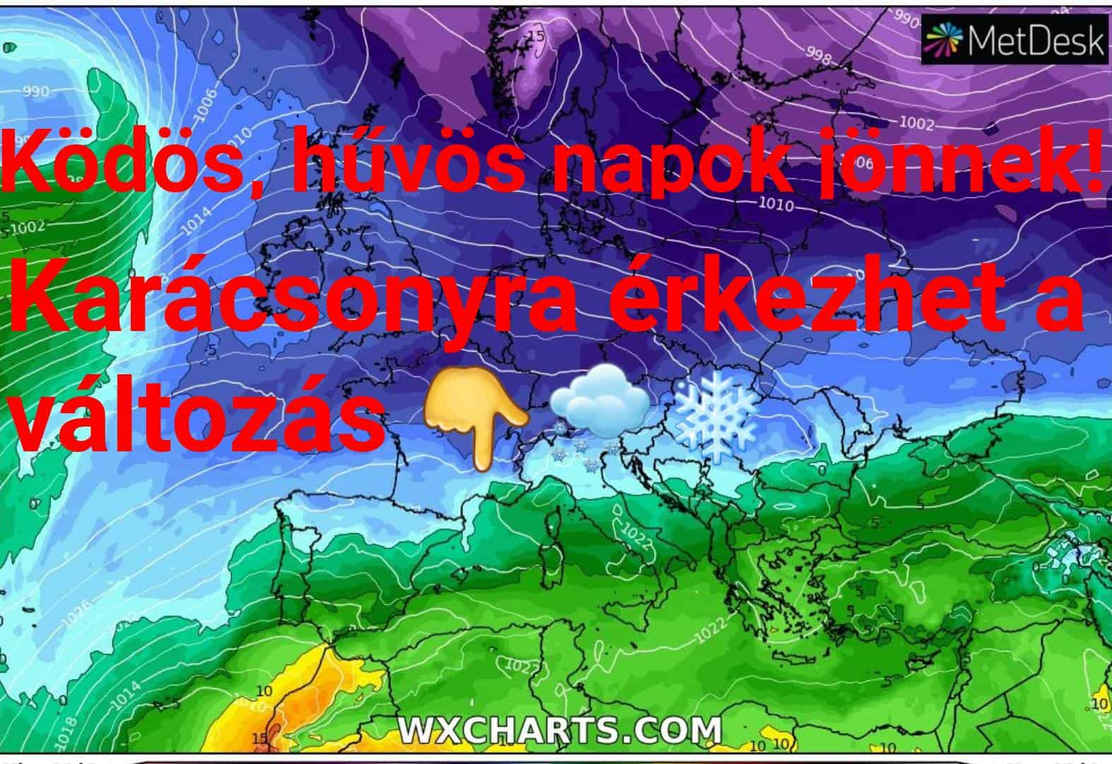 Hosszútávú kilátások: ködös, hideg időt követően az ünnepek havat is hozhatnak! (Animációs időjárás előrejelzés) 4