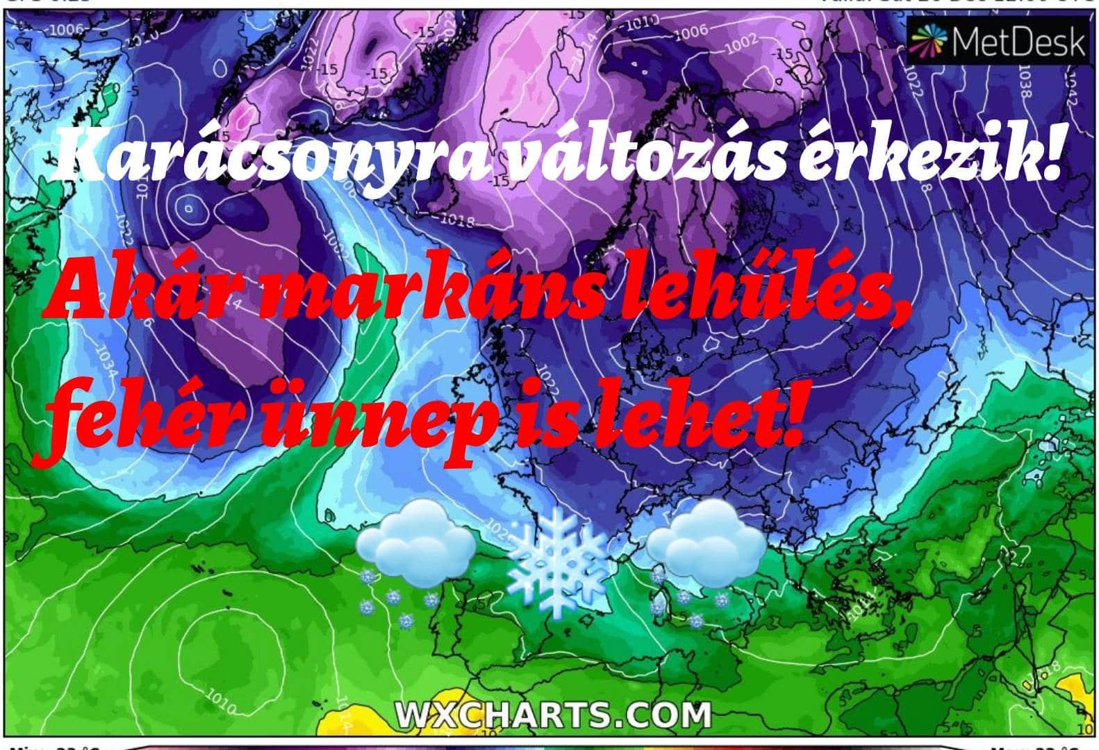 Hosszútávú időjárás előrejelzés: ködös kezdet, majd karácsonyra jöhet a változás! 3