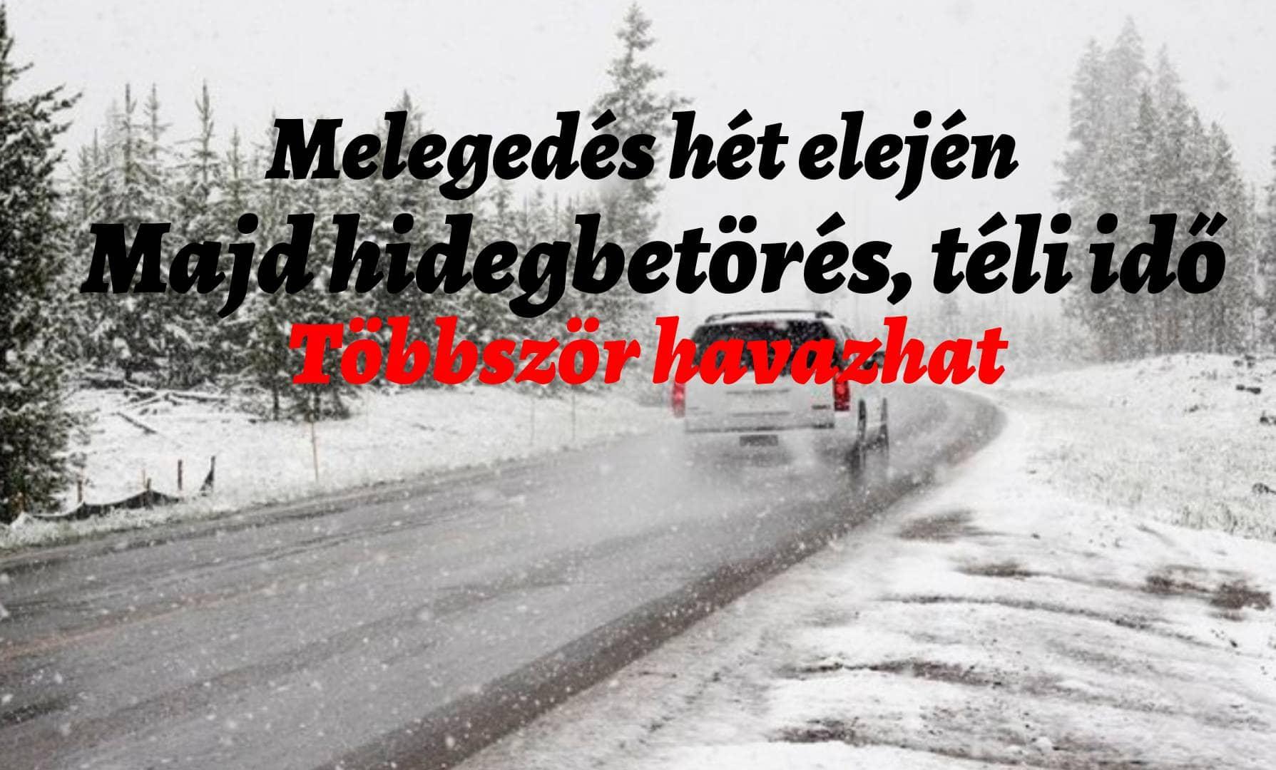 Jövőhéten előbb meleg, majd markáns lehűlés, hó érkezhet az ünnepekre és utána! 7