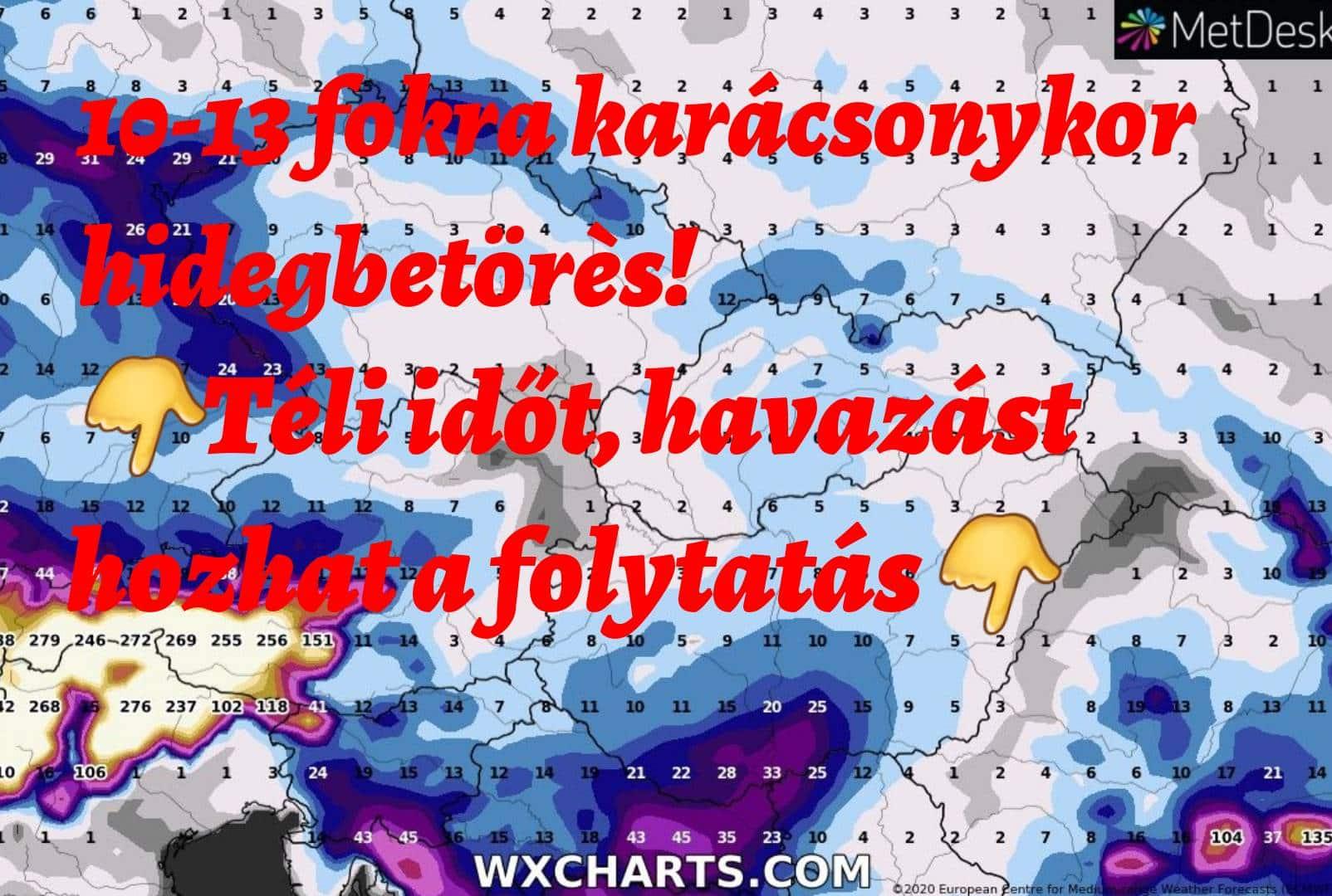 A hét elején 10-12 fok, karácsonyra markáns lehűlés, téliesebb, havas folytatás!( Hosszútávú időjárás előrejelzés) 6