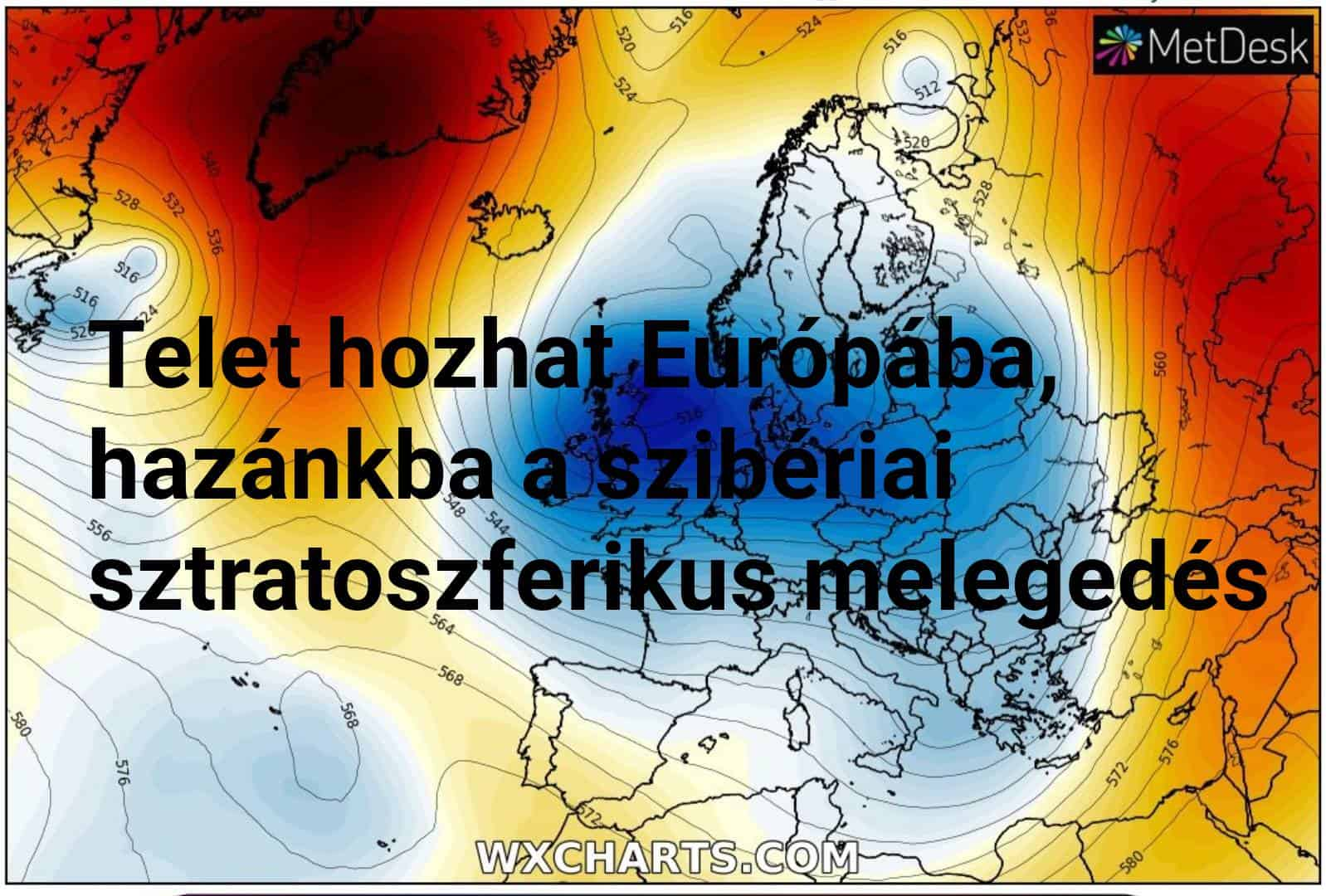 Hirtelen sztratoszferikus melegedés hozhat téli időt Európaszerte! (Hosszútávú előrejelzés) 1