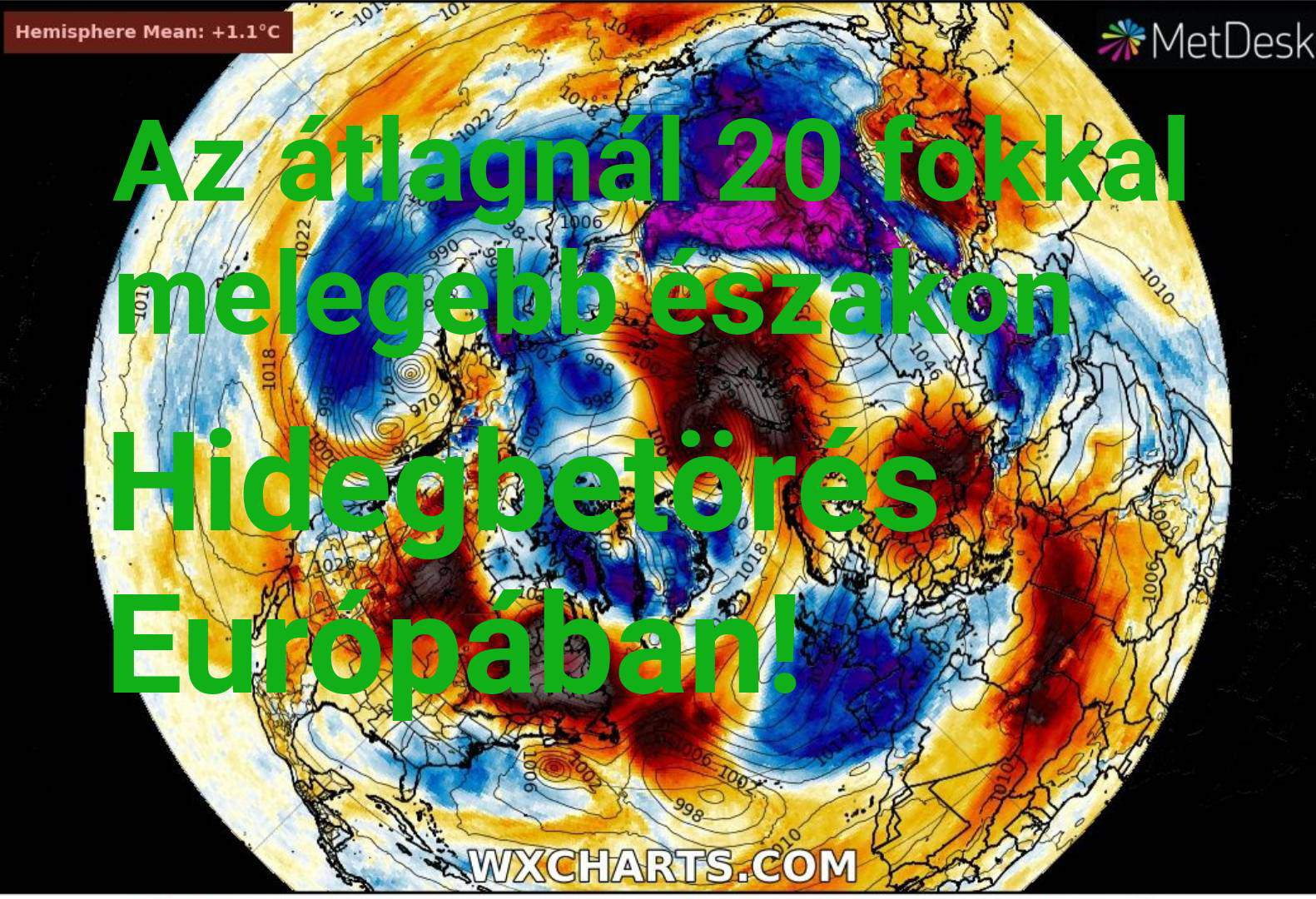 """""""Hőhullám"""" Szibériában, a sarkkörön, hidegbetörés Európában! 2"""