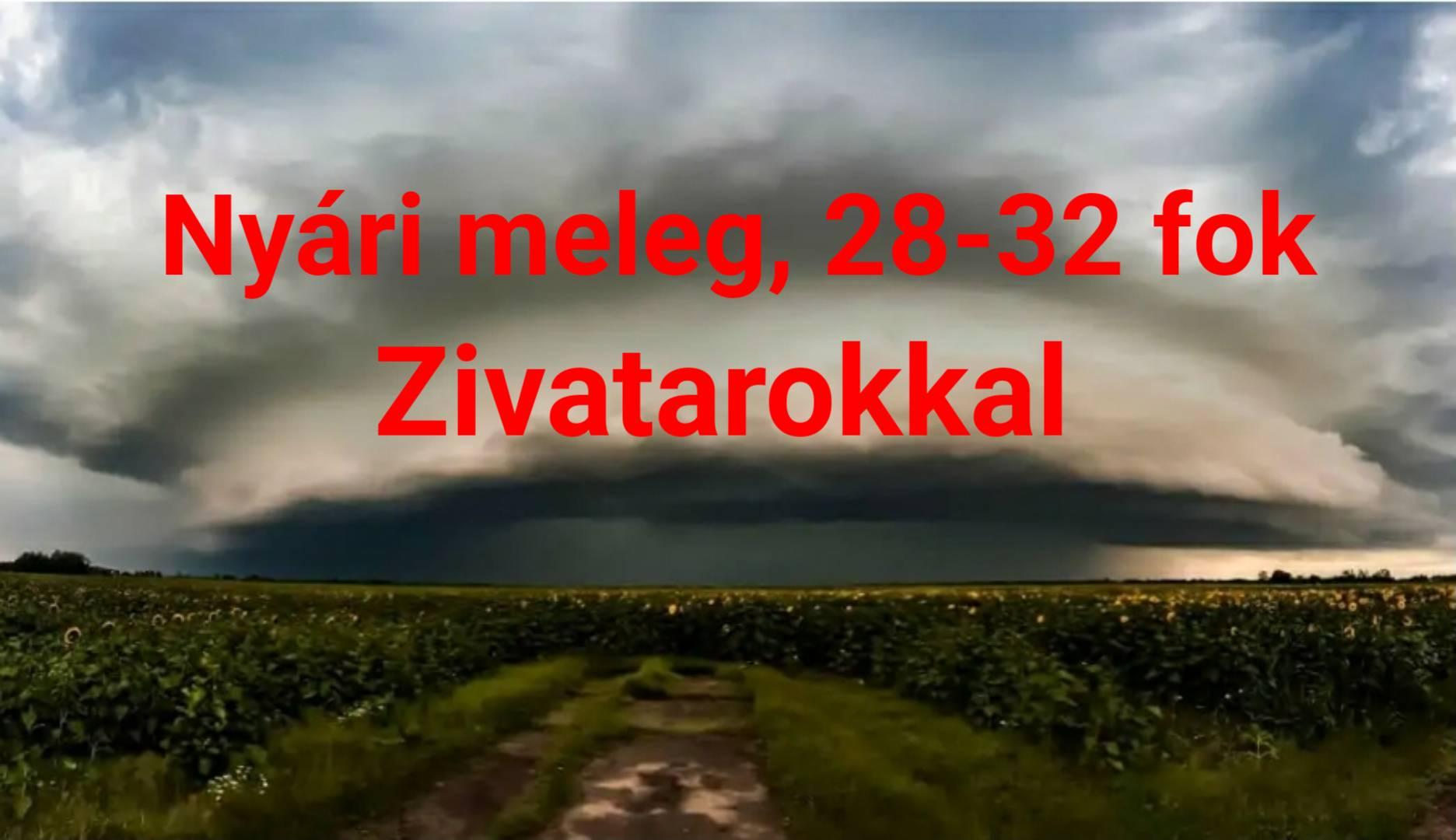 Hosszútávú előrejelzés: kánikula, 28-32 fok, akár heves viharokkal! 8