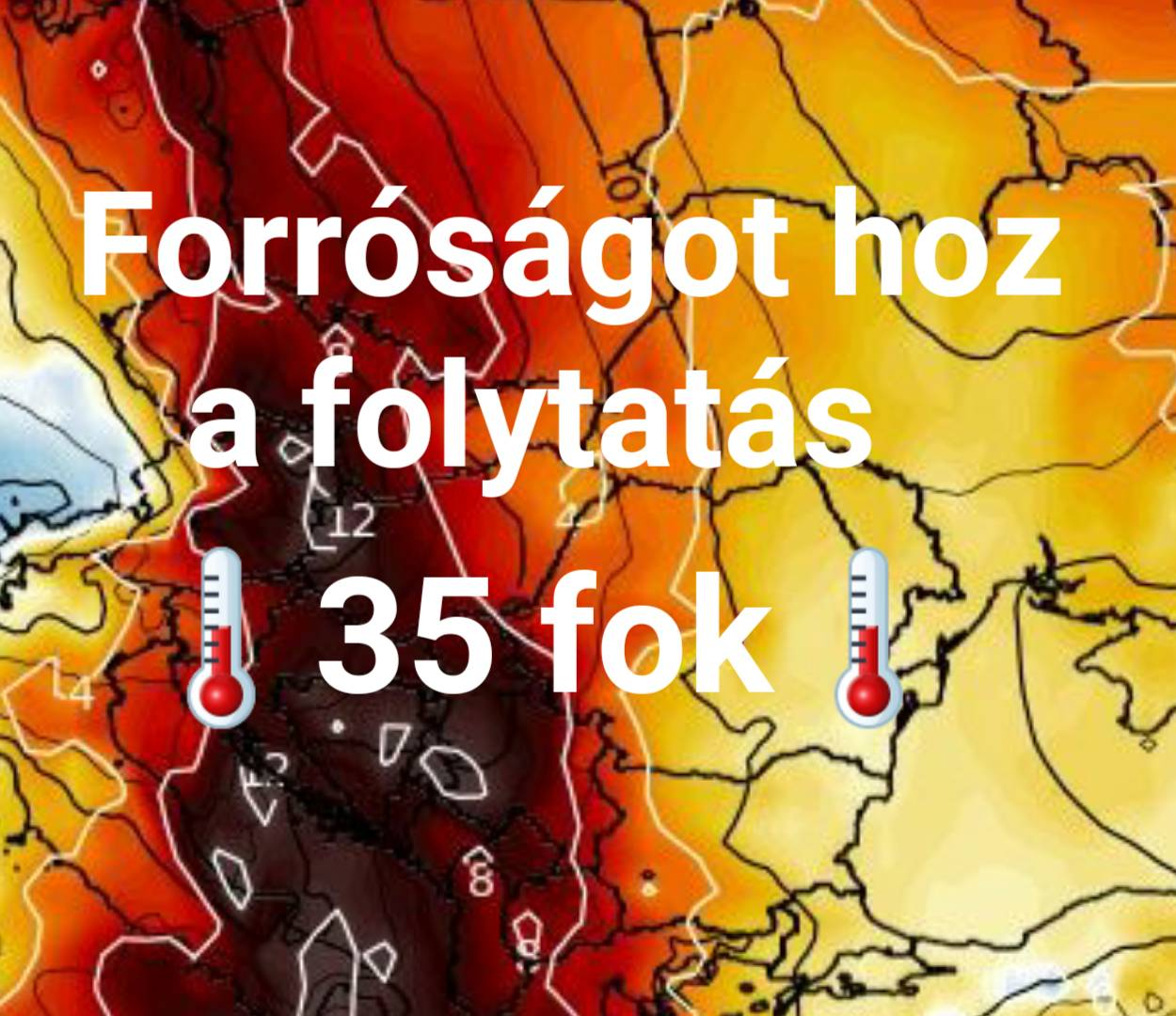 Tartós hőhullám jön: 35 fokos hőség, majd viharok! 3