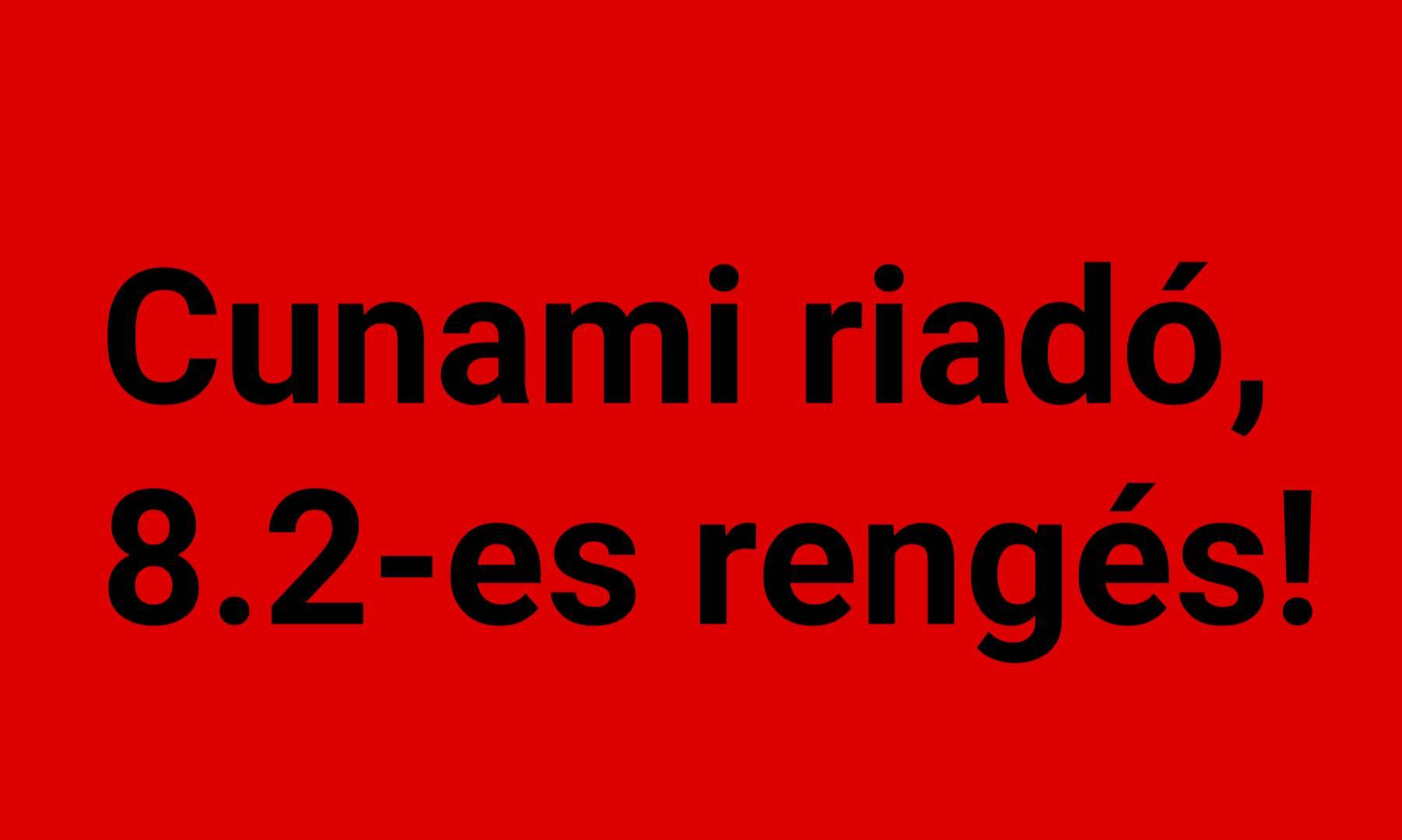 Cunami riadó: 8.2-es földrengés Alaszkában! 2