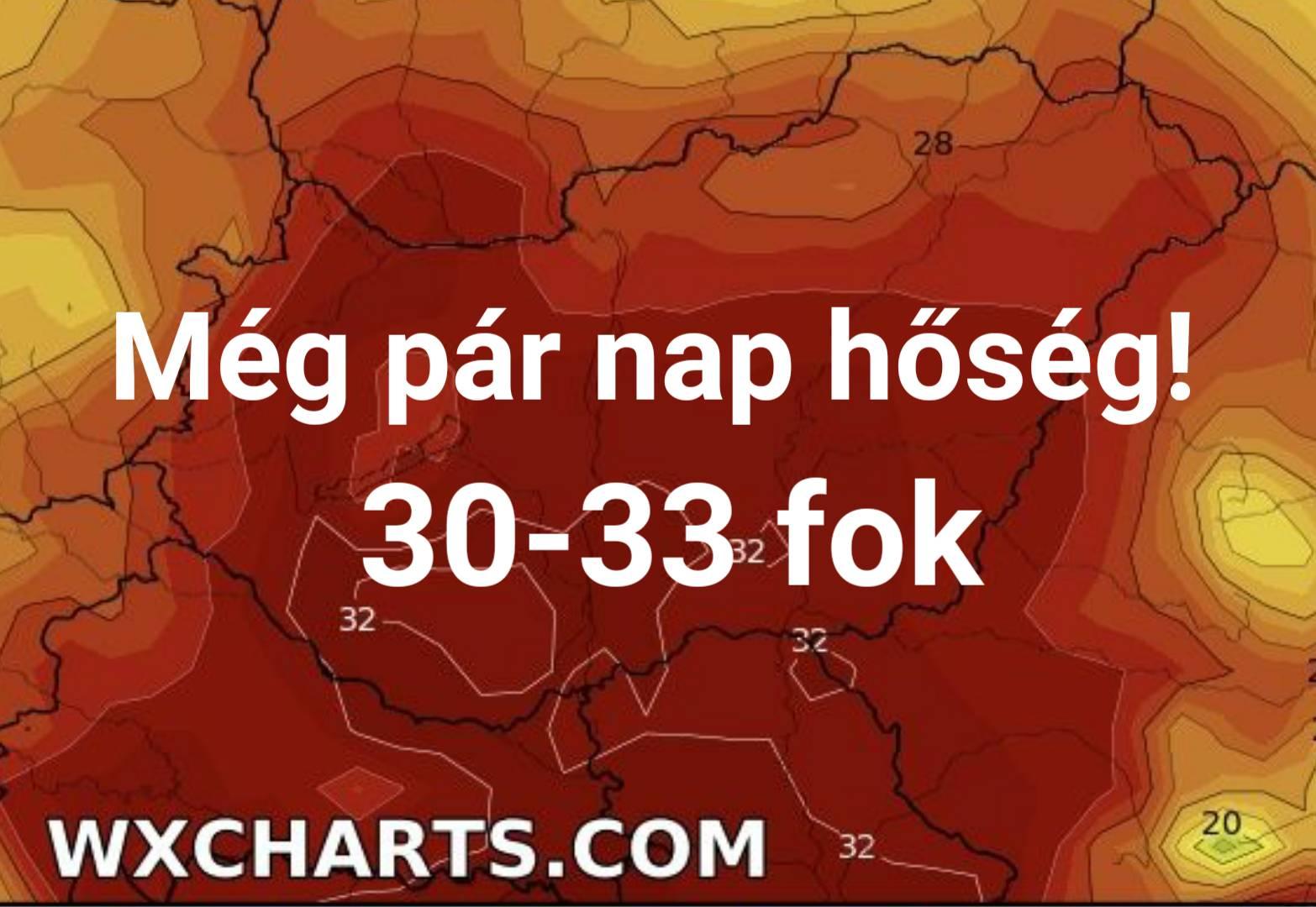 Még pár nap hőség, 30-33 fok! 2