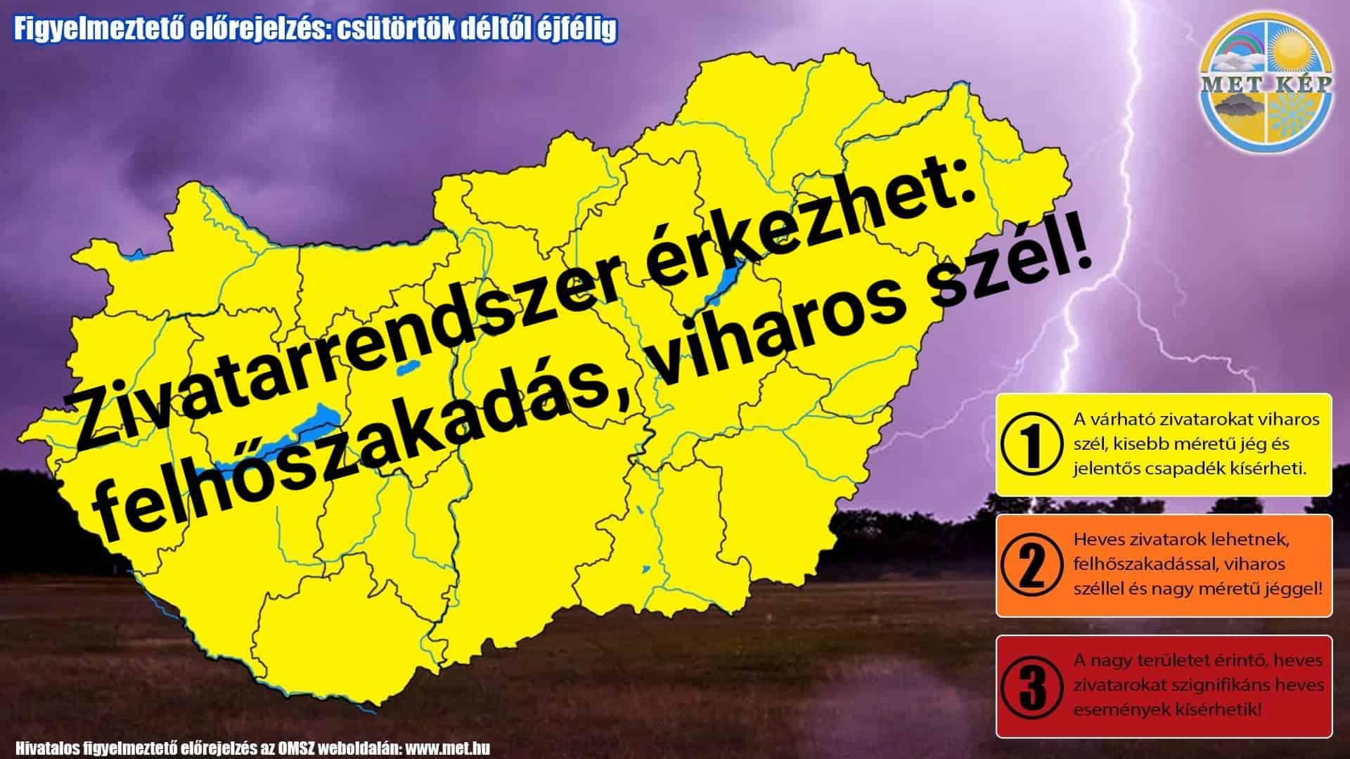 Figyelmeztetés: zivatarrendszer érkezhet felhőszakadással! 3