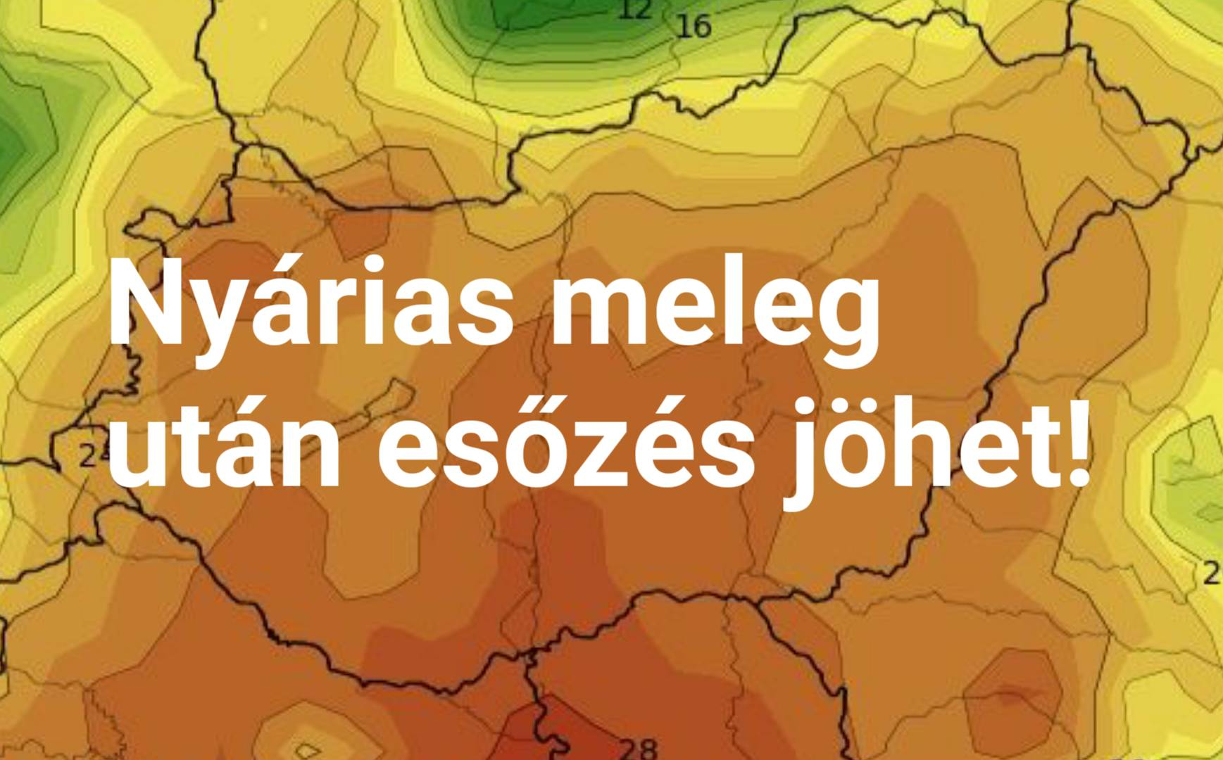 Hétvégén nyárias meleg, majd esőzés jöhet! 2