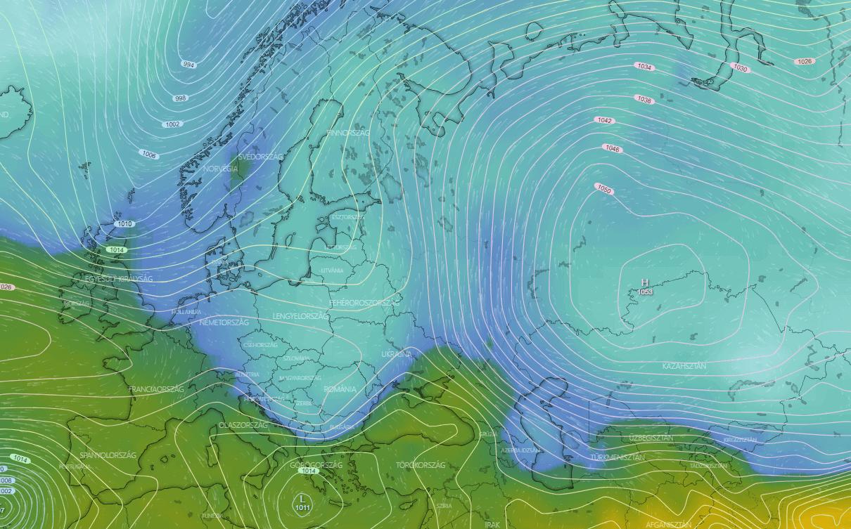 Hidegcsepp hazánk felett, holnapi időjárásunkat még ez határozza meg