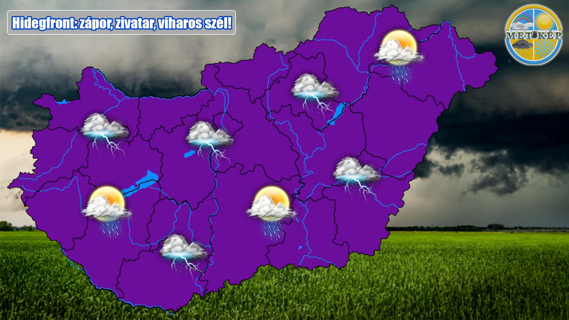 Hidegfront érkezik: zápor, zivatar, viharos szél! 2