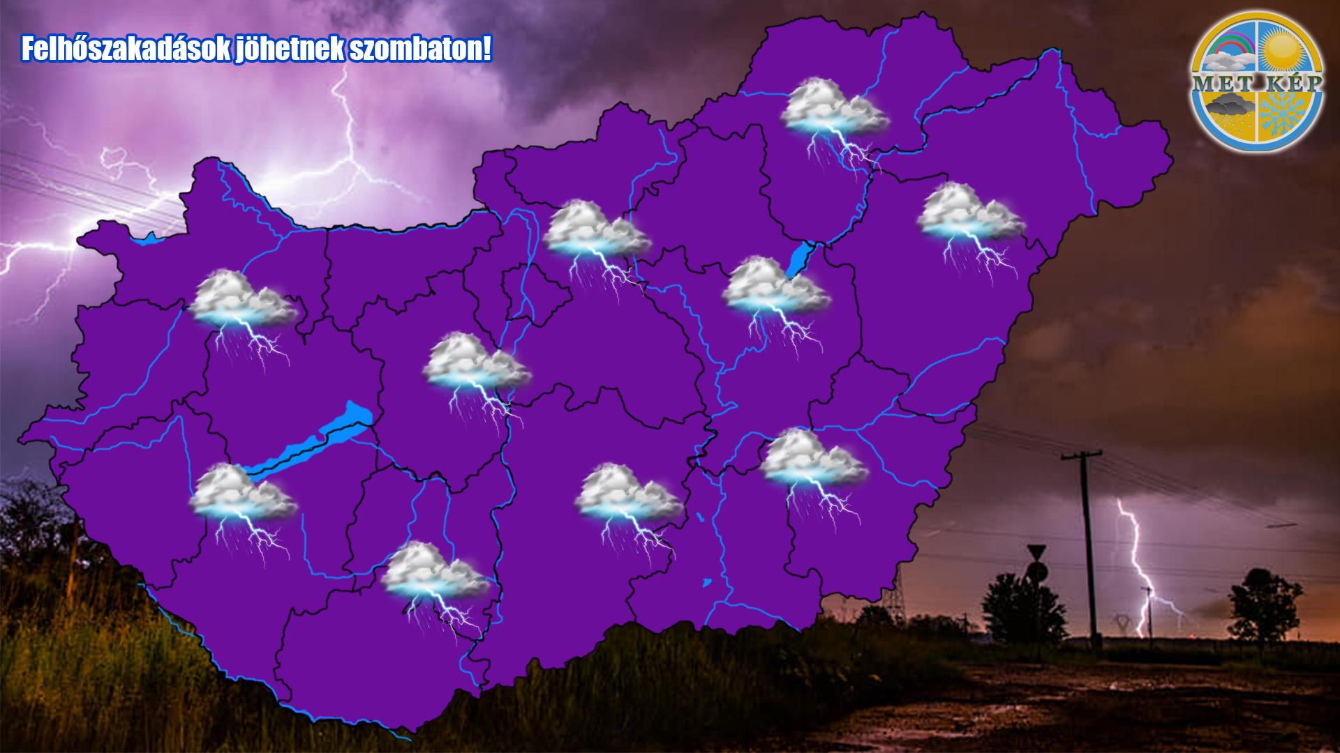 Következő órák: viharok, felhőszakadás, 50-60 mm eső, jég, szélvihar! 3
