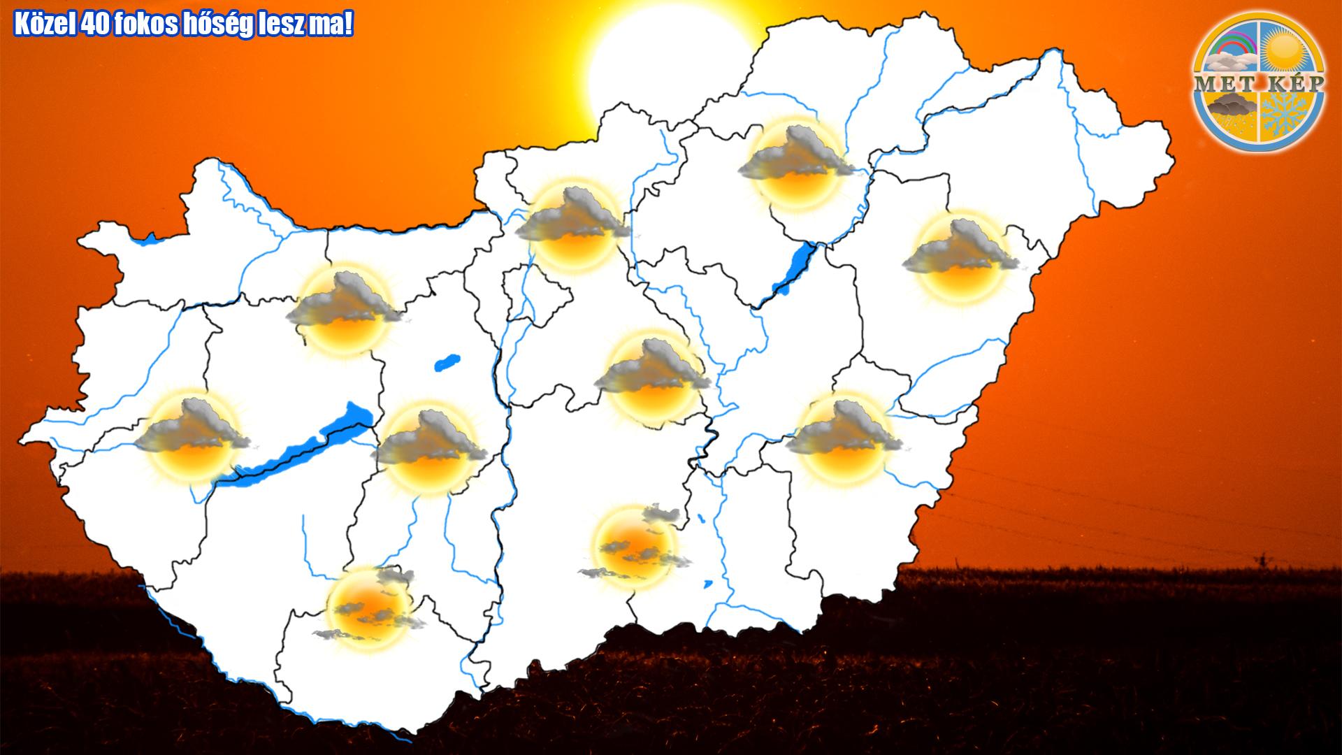 Közel 40 fokos hőség lesz ma! 2