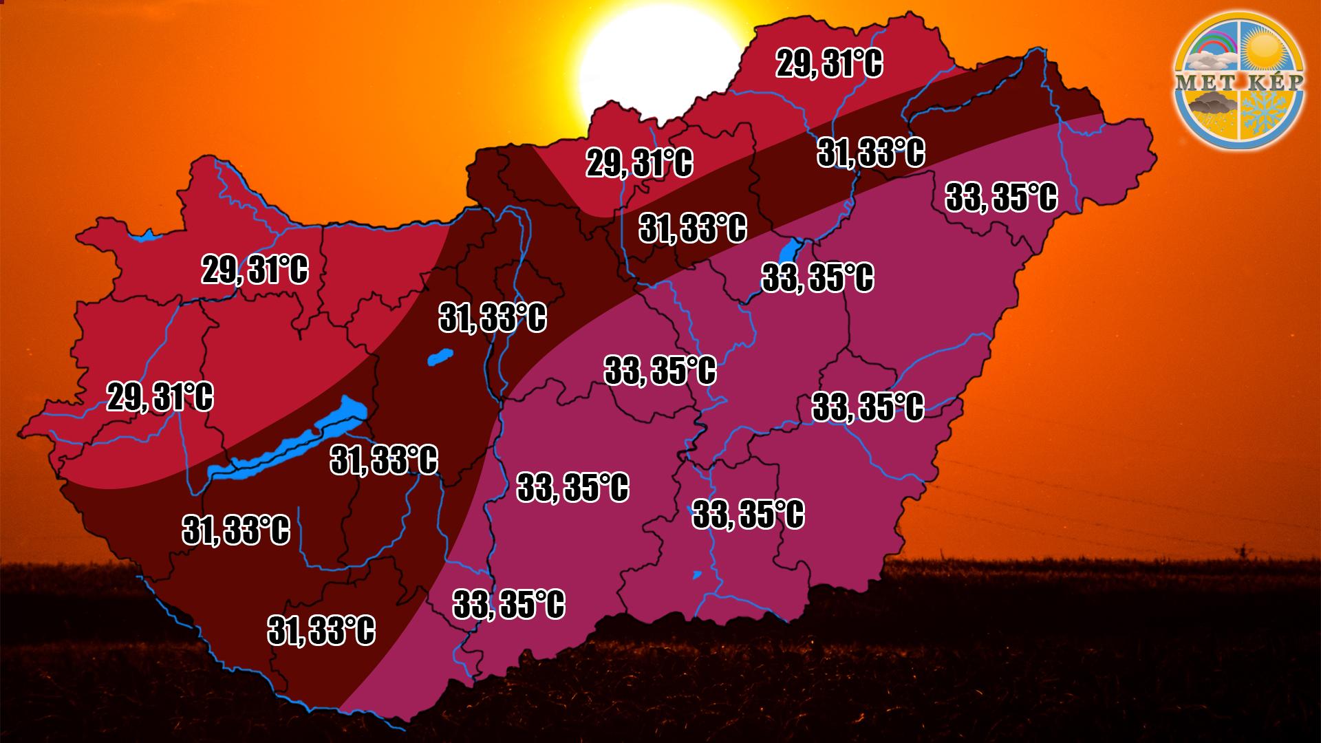 Ma: elviselhetőbb lesz a hőség! 3
