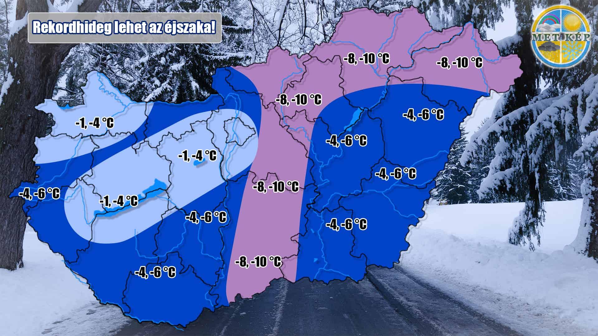 Nagyon hideg éjszakánk lesz, holnapra virradóra erős, országos fagy várható!