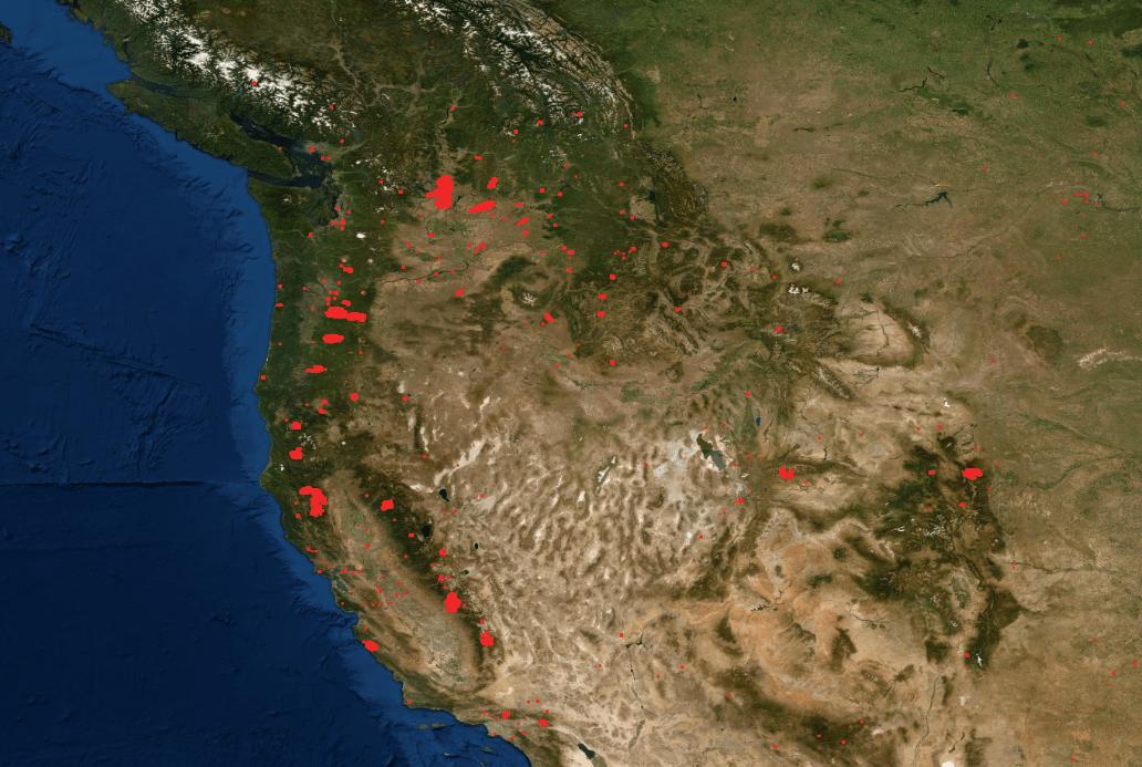 Egyre szaporódó tűzfészkek, a bozzótüzeket a NASA FIRMS rendszerén át is nyomonkövethetjük