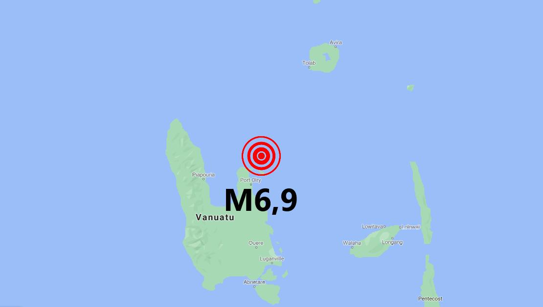Erős földrengés Vanuatun!