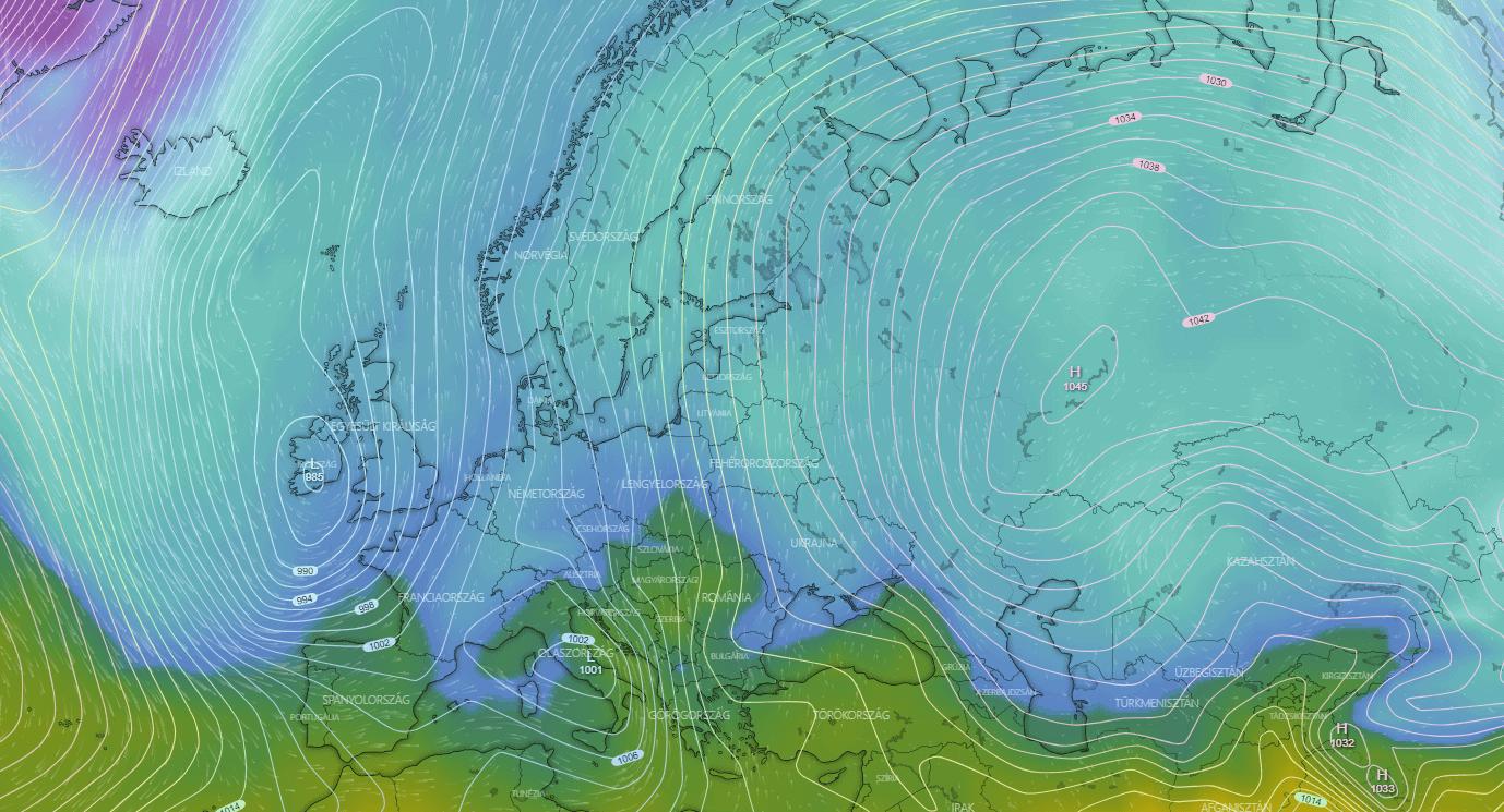 Igazi hőhullám várható, ahogy a ciklon, és az anticiklon közös nyomásrendszerében felszippantja a meleg levegőt